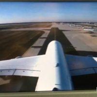 Decolarea și aterizarea unui Airbus A380 filmate de pe coada avionului